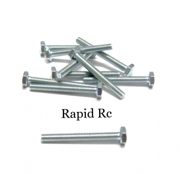 M3 x 25mm Hex Head High Tensile Hex Bolts